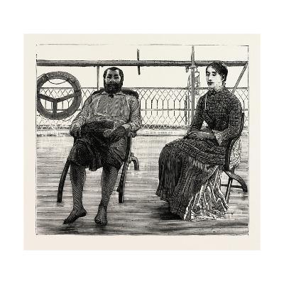 Thakambau on Board the Wairarapa, Levuka, Fiji Islands--Giclee Print
