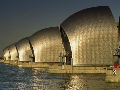 Thames Flood Barrier, Woolwich, Near Greenwich, London, England, United Kingdom, Europe-Miller John-Photographic Print