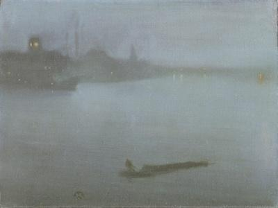 Thames - Nocturne in Blue and Silver, c.1872/8-James Abbott McNeill Whistler-Giclee Print