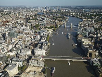 Thames River and London-Jason Hawkes-Photographic Print