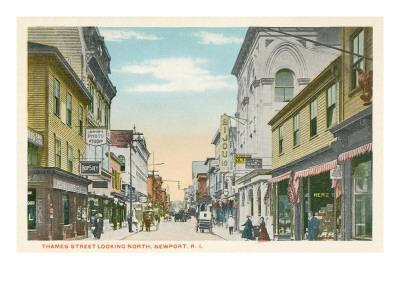 Thames Street, Newport, Rhode Island--Art Print