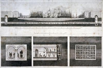Thames Tunnel, London, 1827-T Blood-Giclee Print