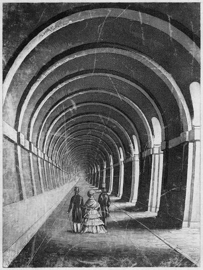 Thames Tunnel, London, Mid 19th Century--Giclee Print