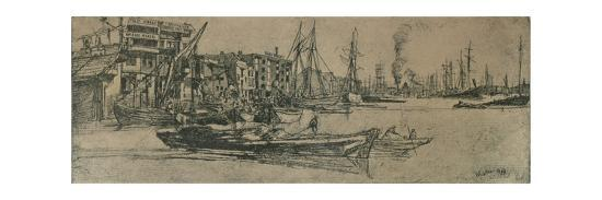 'Thames Warehouses', 1859-James Abbott McNeill Whistler-Giclee Print