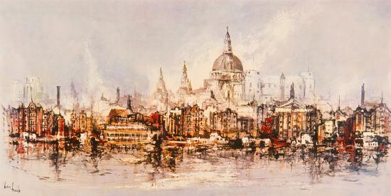 Thameside-Ben Maile-Giclee Print