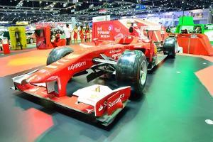 Nonthaburi - December 1: Ferrari Formula 1 Car Display at Thailand International Motor Expo on Dece by Thampapon1