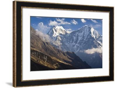 Thamserku and Kantega, Dudh Kosi Valley, Solu Khumbu (Everest) Region, Nepal-Ben Pipe-Framed Photographic Print