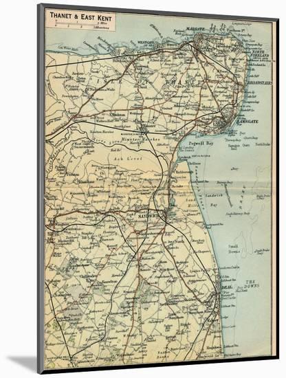 'Thanet & East Kent', c20th Century-John Bartholomew-Mounted Giclee Print