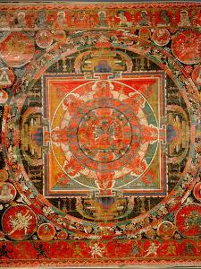 Thang-Ka Depicting a Mandala, Used as an Instrument of Meditation