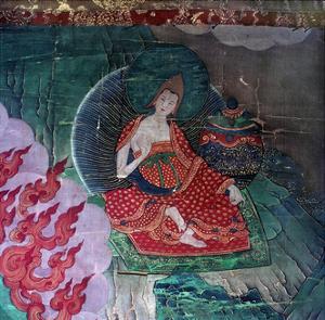 Thang-Ka (Sacred Temple Banner), Used as an Aid for Meditation