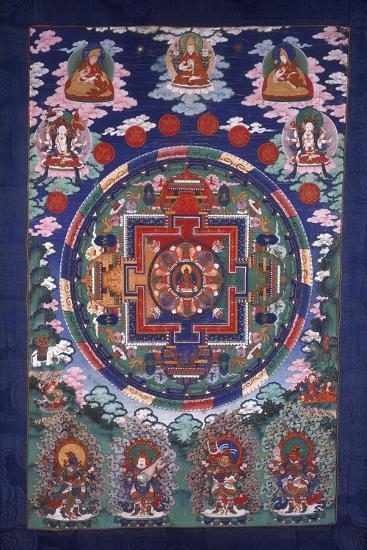 Thangka Mandala--Giclee Print