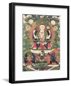 Thangka of Buddha Shakamunyi with Manjushri and Vajrapani