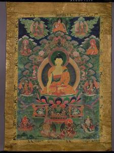 Thangka of Shakyamuni Buddha with Eleven Figures, 19th-20th Century