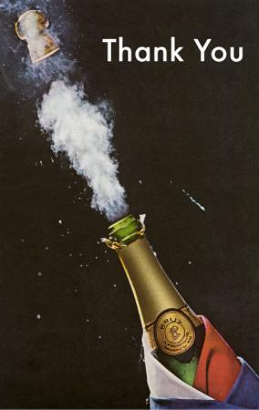 Thank You, Champagne Blowing Cork