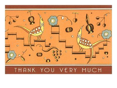 Thank You Very Much, Geometric Birds--Art Print