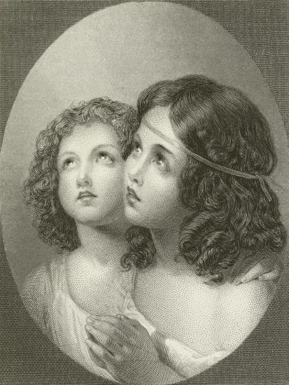 Thankful Children-Thomas Uwins-Giclee Print