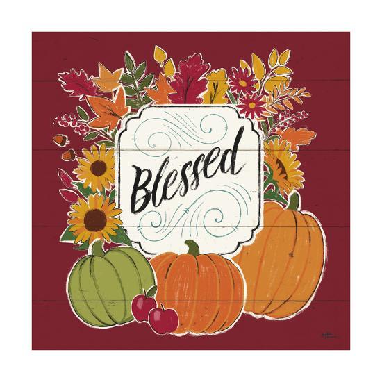 Thankful III Red-Janelle Penner-Art Print