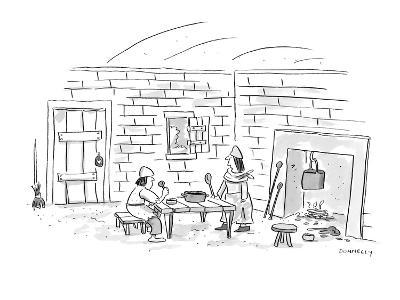 """""""Thanks, but I can't take any credit for the gruel?it's from a mix."""" - New Yorker Cartoon-Liza Donnelly-Premium Giclee Print"""