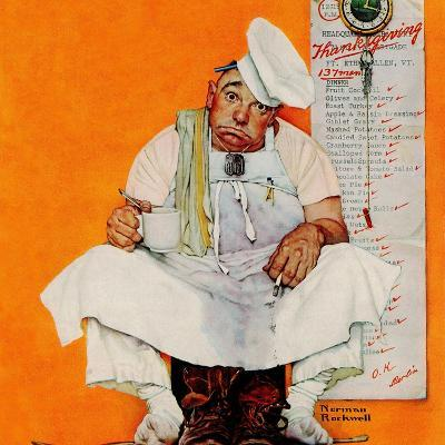 """""""Thanksgiving Day Blues"""", November 28,1942-Norman Rockwell-Giclee Print"""