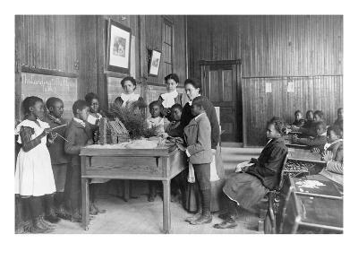 Thanksgiving Day Lesson at Whittier--Art Print