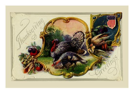 Thanksgiving Greetings--Art Print
