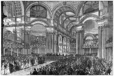 Thanksgiving Service in St Paul's Cathedral, London, 1900--Giclee Print