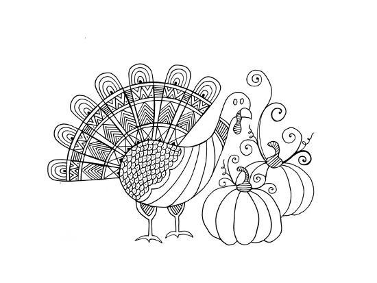 Thanksgiving Turkey-Neeti Goswami-Art Print