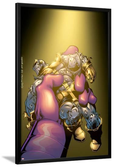 Thanos No.5 Cover: Thanos-Jim Starlin-Lamina Framed Poster