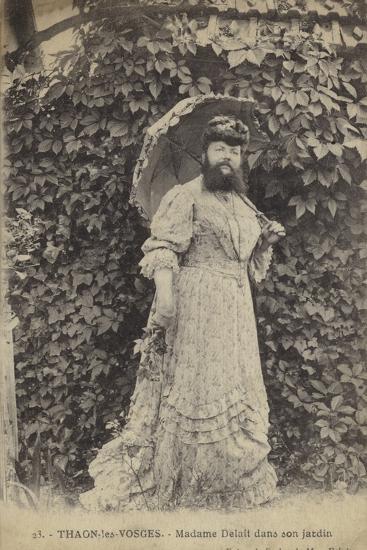 Thaon-Les-Vosges, Madame Delait in Her Garden--Photographic Print