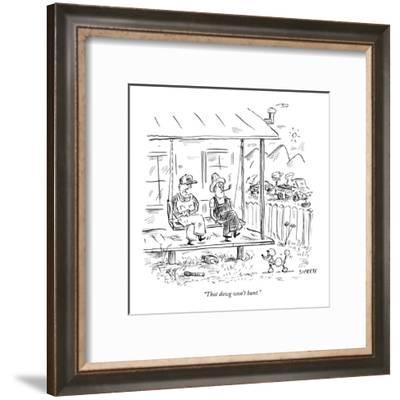 """That dawg won't hunt."" - New Yorker Cartoon-David Sipress-Framed Premium Giclee Print"