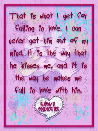 That Is What I Get for Falling in Love-Cathy Cute-Giclee Print