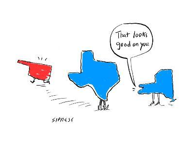 """That looks good on you."" - Cartoon-David Sipress-Premium Giclee Print"