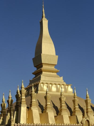 That Luang Stupa, Largest in Laos, Built 1566 by King Setthathirat, Vientiane, Laos, Southeast Asia-De Mann Jean-Pierre-Photographic Print
