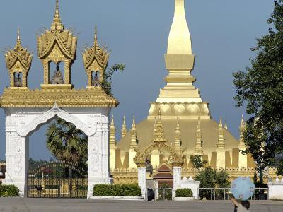 That Luang Stupa, Largest in Laos, Built 1566 by King Setthathirat, Vientiane, Laos, Southeast Asia-De Mann Jean-Pierre-Photographic Print