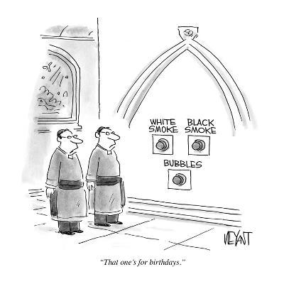 """That one's for birthdays."" - Cartoon-Christopher Weyant-Premium Giclee Print"