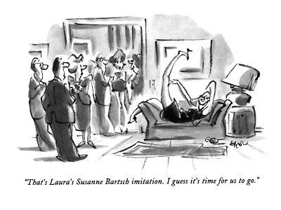 """That's Laura's Susanne Bartsch imitation. I guess it's time for us to go.?"" - New Yorker Cartoon-Lee Lorenz-Premium Giclee Print"