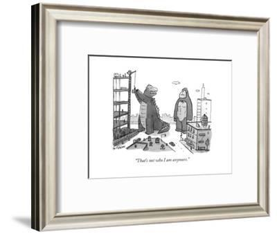 """That's not who I am anymore."" - New Yorker Cartoon-Jason Patterson-Framed Premium Giclee Print"