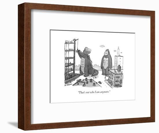"""""""That's not who I am anymore."""" - New Yorker Cartoon-Jason Patterson-Framed Premium Giclee Print"""