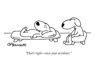 """That's right?own your accidents."" - New Yorker Cartoon-Charles Barsotti-Premium Giclee Print"