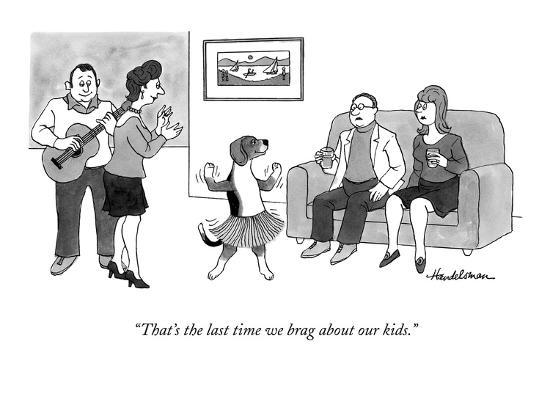 """""""That's the last time we brag about our kids."""" - New Yorker Cartoon-J.B. Handelsman-Premium Giclee Print"""