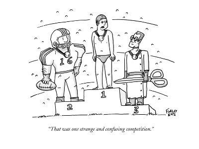 """""""That was one strange and confusing competition."""" - New Yorker Cartoon-Farley Katz-Premium Giclee Print"""