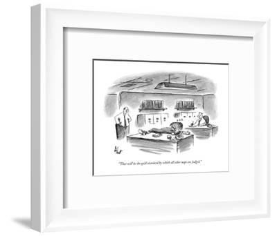 """That will be the gold standard by which all other naps are judged."" - New Yorker Cartoon-Frank Cotham-Framed Premium Giclee Print"