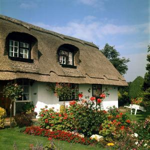 Thatched Cottage Near Burscough in Lancashire, Northern England 1972