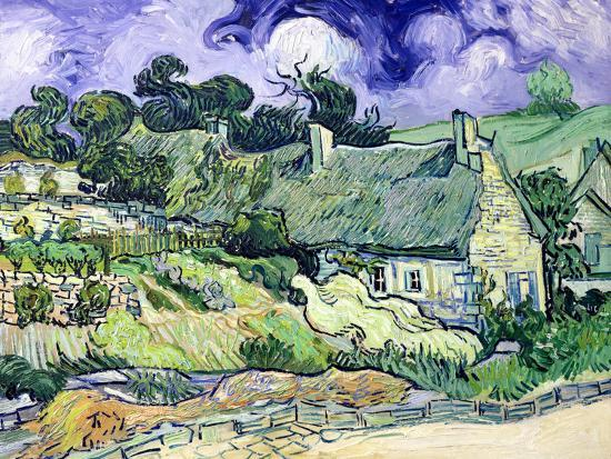Thatched Cottages at Cordeville, Auvers-Sur-Oise, c.1890-Vincent van Gogh-Premium Giclee Print