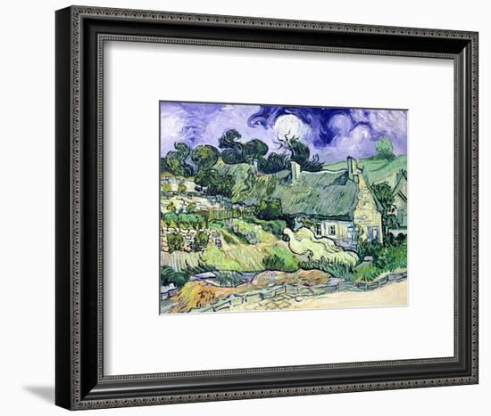 Thatched Cottages at Cordeville, Auvers-Sur-Oise, c.1890-Vincent van Gogh-Framed Premium Giclee Print