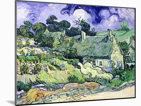 Thatched Cottages at Cordeville, Auvers-Sur-Oise, c.1890-Vincent van Gogh-Mounted Giclee Print