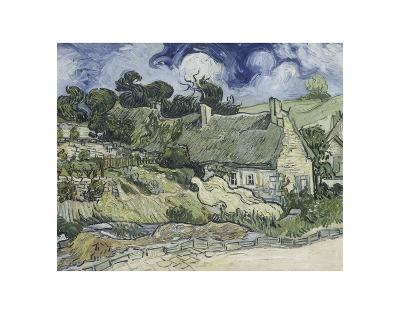Thatched Cottages in Cordeville-Vincent van Gogh-Giclee Print