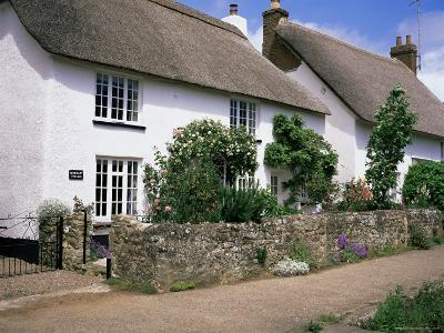 Thatched Cottages, Otterton, South Devon, England, United Kingdom-Roy Rainford-Photographic Print