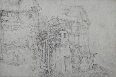 Thatched Dwellings, Partly in Ruins, on a Mountainside-Roelandt Jacobsz^ Savery-Giclee Print