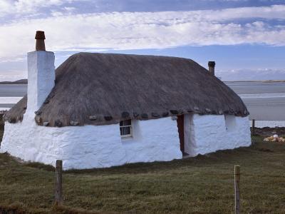 Thatched House, Berneray, North Uist, Outer Hebrides, Scotland, United Kingdom, Europe-Patrick Dieudonne-Photographic Print